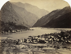 River scene in the Sutlej Valley.